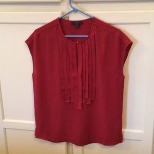 J.Crew Sleeveless Top With Ribbon Detail Size 0